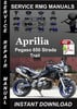 Thumbnail Aprilia Pegaso 650 Strada Trail Service Repair Manual
