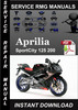 Thumbnail Aprilia SportCity 125 200 Service Repair Manual Download