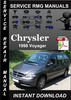 Thumbnail 1998 Chrysler Voyager Service Repair Manual Download