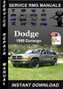 Thumbnail 1999 Dodge Durango Service Repair Manual Download
