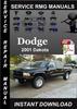 Thumbnail 2001 Dodge Dakota Service Repair Manual Download