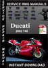 Thumbnail 2002 Ducati 748 Service Repair Manual Download