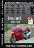 Thumbnail 2003 Ducati 800 Service Repair Manual Download