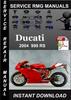 Thumbnail 2004 Ducati 999 RS Service Repair Manual Download