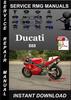 Thumbnail Ducati 888 Service Repair Manual Download