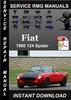 Thumbnail 1980 Fiat 124 Spider Service Repair Manual Download