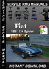 Thumbnail 1981 Fiat 124 Spider Service Repair Manual Download