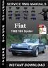 Thumbnail 1982 Fiat 124 Spider Service Repair Manual Download