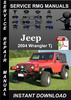 Thumbnail 2004 Jeep Wrangler Tj Service Repair Manual Download