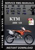 Thumbnail 2000 KTM 125 Service Repair Manual Download