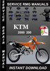 Thumbnail 2000 KTM 200 Service Repair Manual Download