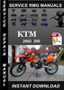 Thumbnail 2002 KTM 200 Service Repair Manual Download