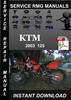 Thumbnail 2003 KTM 125 Service Repair Manual Download