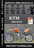 Thumbnail 2004 KTM 85 SX Service Repair Manual Download