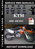 Thumbnail 2009 KTM 400 EXC Service Repair Manual Download