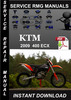 Thumbnail 2009 KTM 400 EXC Service Repair Manual is a highly detailed