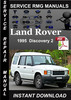 Thumbnail 1995 Land Rover Discovery 2 Service Manual Download