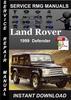 Thumbnail 1999 Land Rover Defender Service Repair Manual Download
