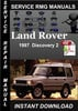 Thumbnail 1997 Land Rover Discovery 2 Service Manual Download