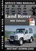 Thumbnail 2000 Land Rover Defender Service Repair Manual Download