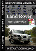 Thumbnail 1999 Land Rover Discovery 2 Service Manual Download