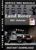 Thumbnail 2001 Land Rover Defender Service Repair Manual Download