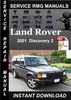 Thumbnail 2001 Land Rover Discovery 2 Service Manual Download