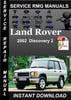 Thumbnail 2002 Land Rover Discovery 2 Service Manual Download