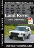 Thumbnail 2003 Land Rover Discovery 2 Service Manual Download