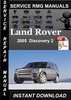 Thumbnail 2005 Land Rover Discovery 2 Service Manual Download
