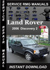 Thumbnail 2006 Land Rover Discovery 2 Service Manual Download
