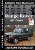 Thumbnail 1991 Range Rover Classic Service Repair Manual Download