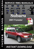 Thumbnail 2001 Subaru Forester Service Repair Manual Download