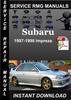 Thumbnail 1997 1998 Subaru Impreza Service Repair Manual Download
