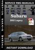 Thumbnail 2002 Subaru Legacy Service Repair Manual Download