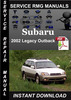 Thumbnail 2002 Subaru Legacy Outback Service Repair Manual Download
