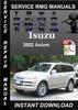 Thumbnail 2002 Isuzu Axiom Service Repair Manual Download