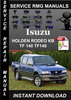 Thumbnail Isuzu HOLDEN RODEO KB TF 140 TF140 Service Repair Manual Dow