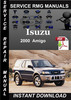 Thumbnail 2000 Isuzu Amigo Service Repair Manual Download