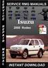 Thumbnail 2000 Isuzu Rodeo Service Repair Manual Download