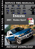 Thumbnail 2001 Isuzu Rodeo Sport Service Repair Manual Download