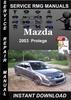 Thumbnail 2003 Mazda Protege Service Repair Manual Download