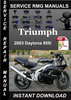Thumbnail 2003 Triumph Daytona 955i Service Repair Manual Download