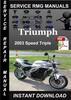 Thumbnail 2003 Triumph Speed Triple Service Repair Manual Download