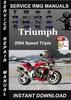Thumbnail 2004 Triumph Speed Triple Service Repair Manual Download