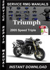 Thumbnail 2005 Triumph Speed Triple Service Repair Manual Download