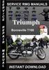 Thumbnail Triumph Bonneville T100 Service Repair Manual Download