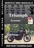 Thumbnail Triumph Scrambler Service Repair Manual Download