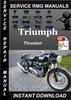 Thumbnail Triumph Thruxton Service Repair Manual Download