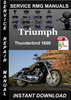 Thumbnail Triumph Thunderbird 1600 Service Repair Manual Download